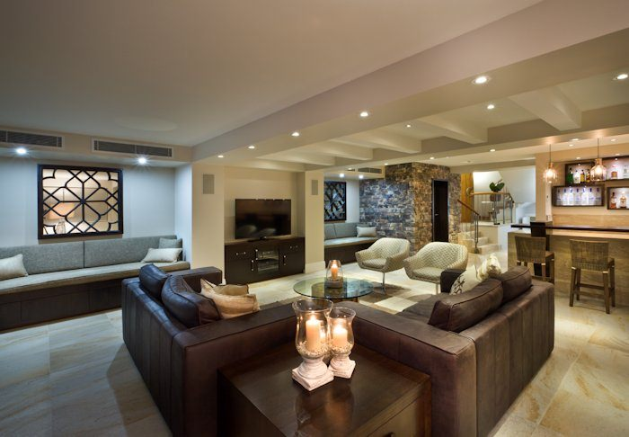 Basement Lighting Part - 45: Modern Basement With Recessed Lighting