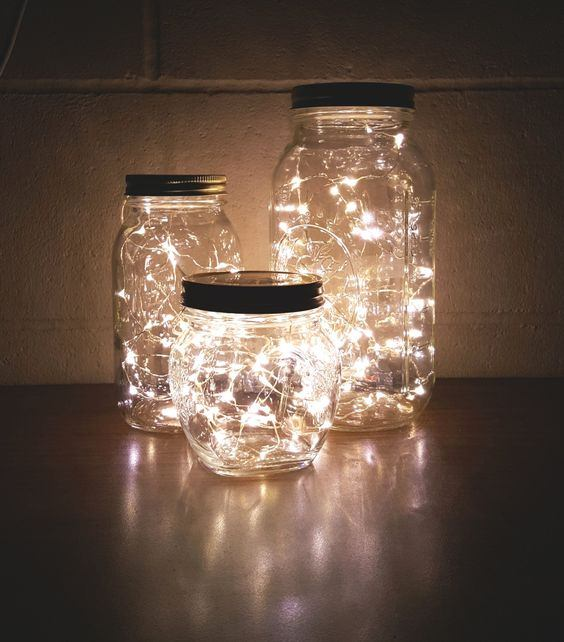 lighting in a jar. LightBulbs.com Has Hundreds Of Micro-LEDs In Stock, So This Craft Really Is Fully Customizable. I Chose Warm White Strings For A Classic Look, But Any Color Lighting Jar