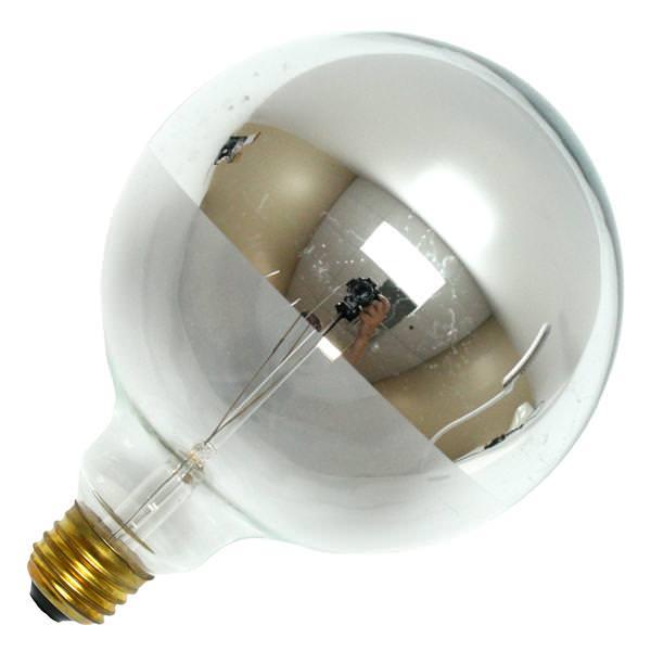 Bulbrite 712356 Silver Bowl Chrome Top Light Bulb