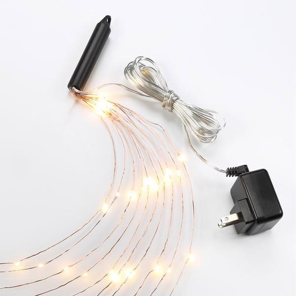 Bulbrite 810066 250 Light 10 10 10 Copper Wire Strands 2700k Warm White Micro Led Starry Miniature Christmas Light String Set