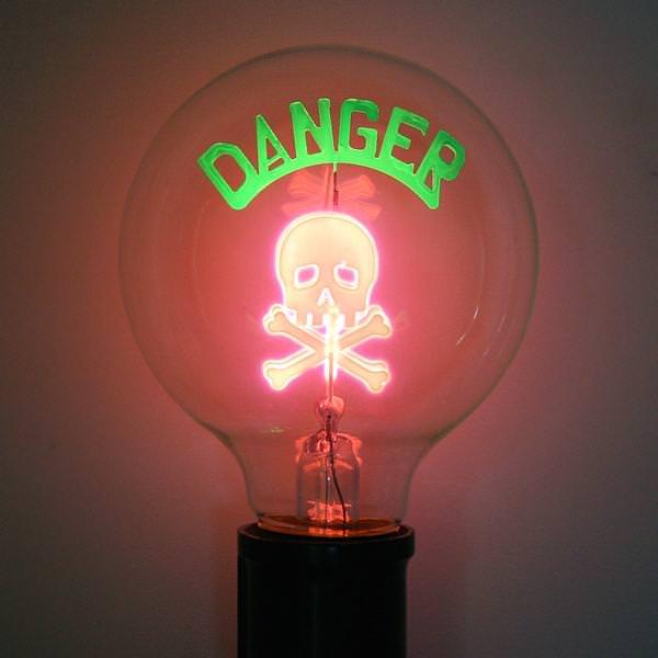 Danger Skull  G25 Medium Screw Base & Damar 55989 azcodes.com