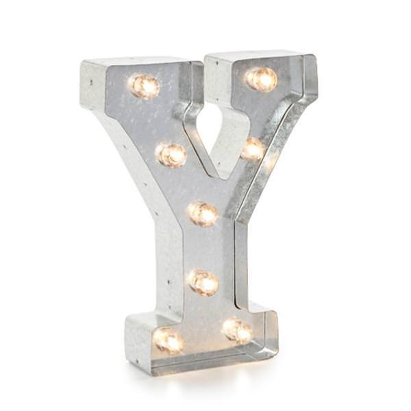 Darice 02834 Galvanized Silver Lighted Letter Symbol