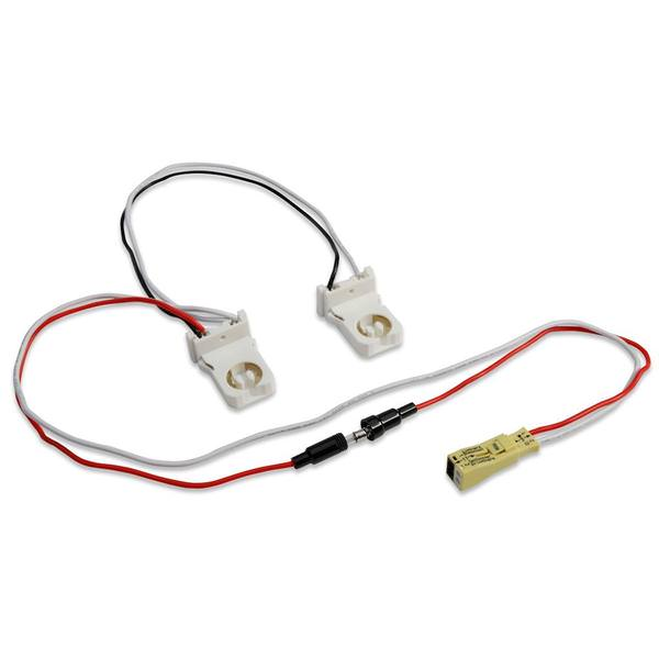 2-lamp wiring harness for led tubes includes (2) pre-wired non