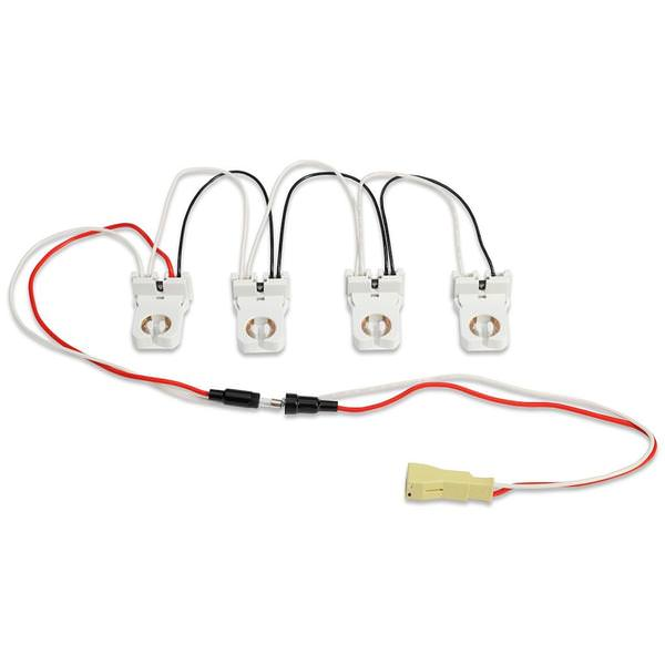 4-lamp wiring harness for led tubes includes (4) pre-wired non