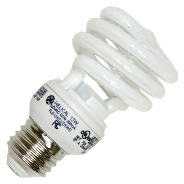 light bulbs daylight full spectrum compact fluorescent ge 72472. Black Bedroom Furniture Sets. Home Design Ideas