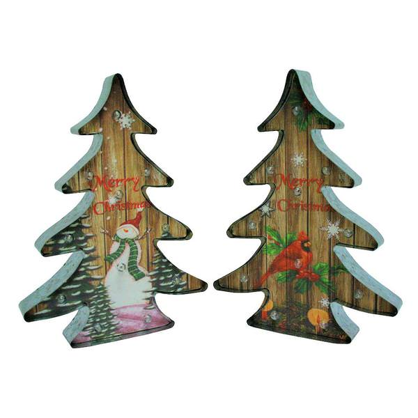 1625 metal battery operated led lighted christmas trees set