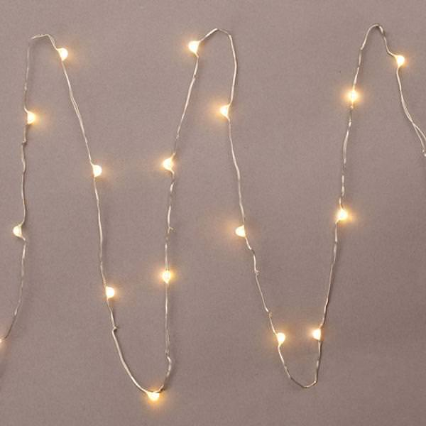 3 18 light silver wire warm white battery operated led micro miniature string with timer