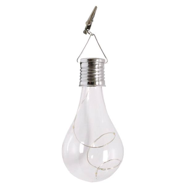 Everlasting Glow Solar LED Light Shaped Like A Bulb Outdoor Patio Decoration