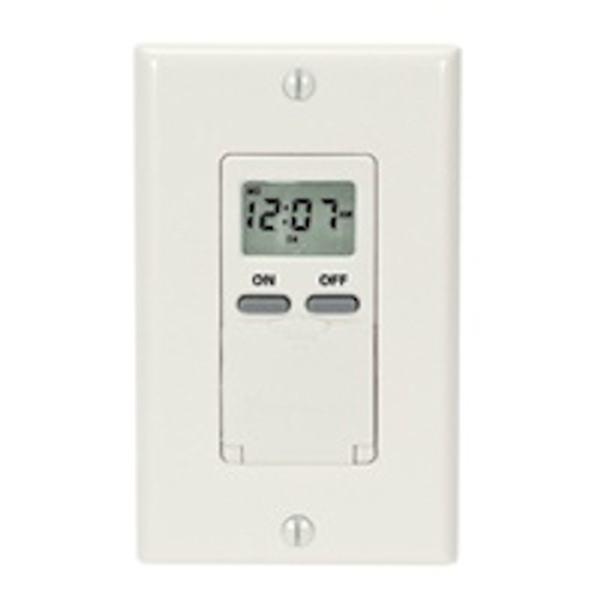 day 120 volt 15 amp light almond digital in wall. Black Bedroom Furniture Sets. Home Design Ideas