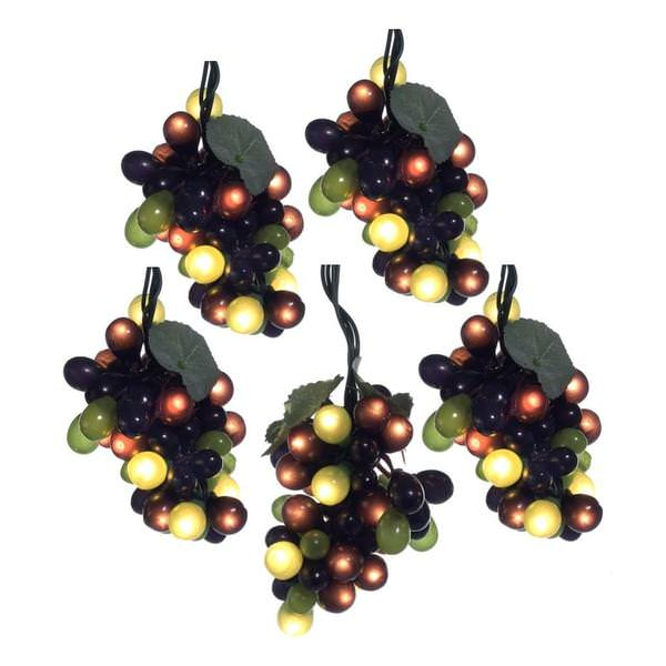 Led Grape Cluster String Lights : Kurt S. Adler 13514 - LED Grapes Christmas Light String Set