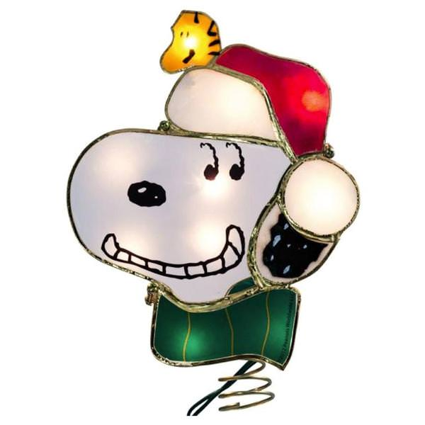 Snoopy Christmas Tree Topper: Assorted Figurine Christmas Tree Topper