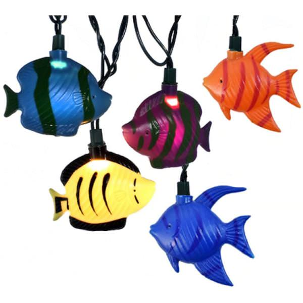 Kurt s adler 23241 beach themed string set for Fish string lights