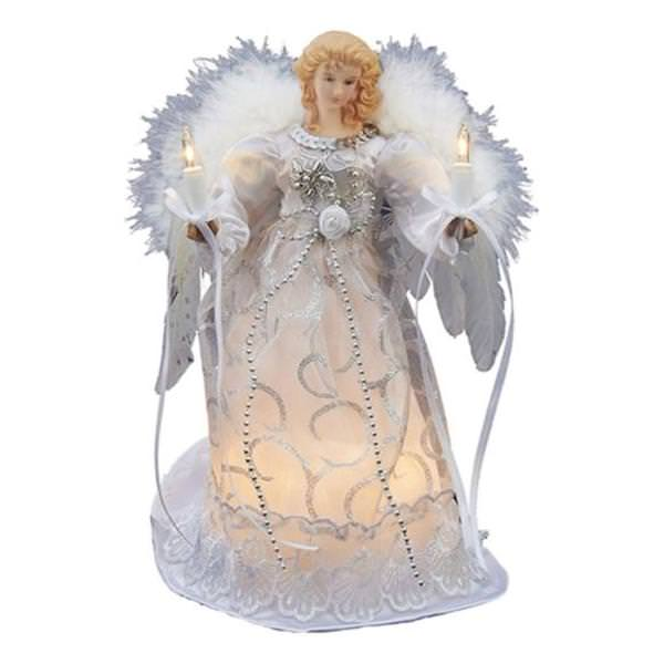 Kurt S Adler 29023 10 Light 9 Angel Christmas Tree Topper