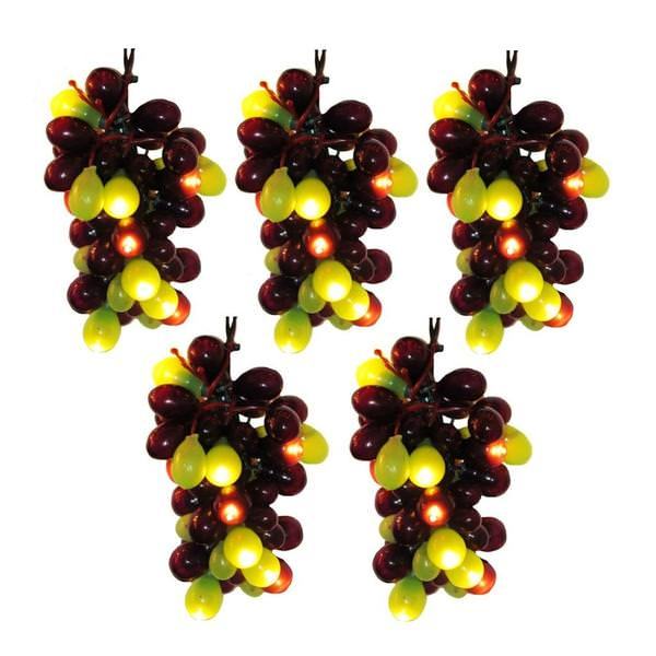 100 light green wire greenpurple grape cluster lights string
