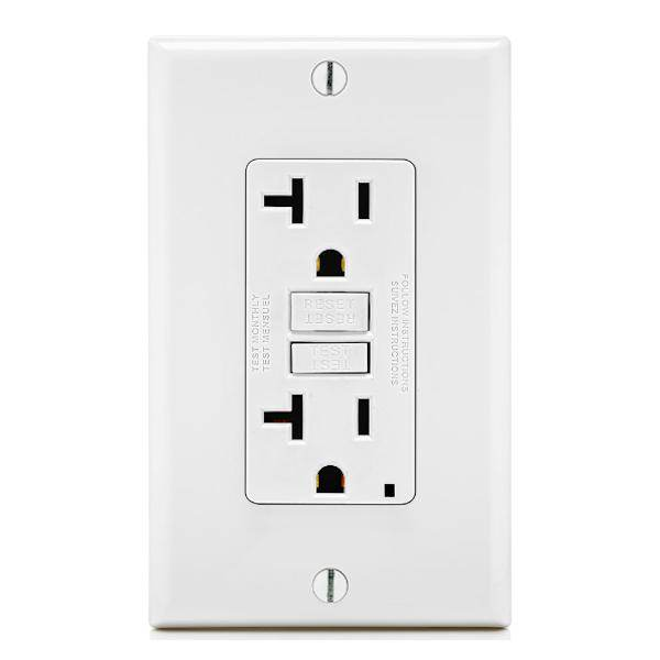 Leviton 71276 - LEVITON GFNT2-W Straight Blade Wall Outlets