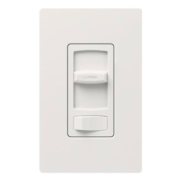 Lutron 00294 - 120 volt White Rocker Single Pole / 3-Way LED / Incandescent  Wall Dimmer Switch