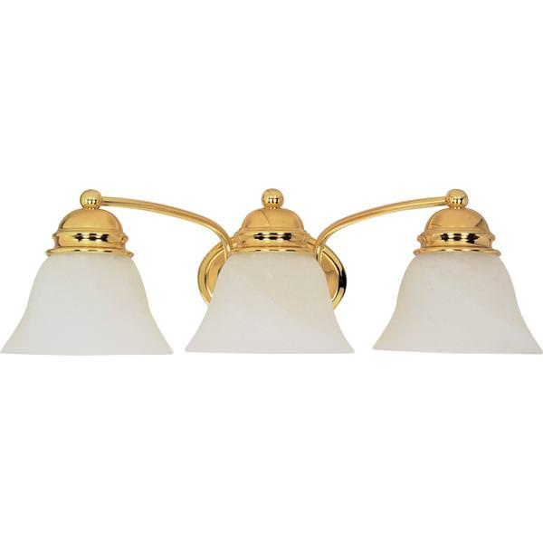 Nuvo lighting 60350 bath vanity light fixture - Polished brass bathroom lighting fixtures ...