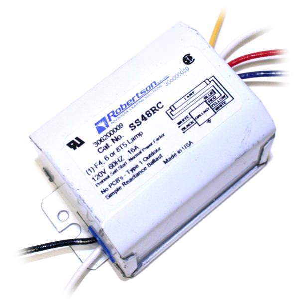 Robertson SS48RC 1 Lamp T5 4-8 watt Fluorescent Ballast NOS