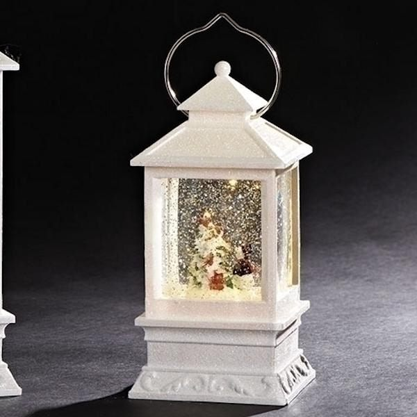 8 5 Battery Operated Led Holiday Lantern With Snowman Batteries Not Included