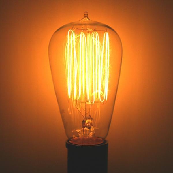 Satco 02423 Edison Style Antique Light Bulb