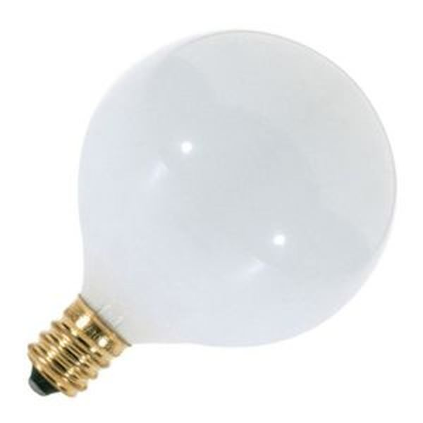 Vanity Light Bulb Size : Satco 03271 - G16.5 Decor Globe Light Bulb