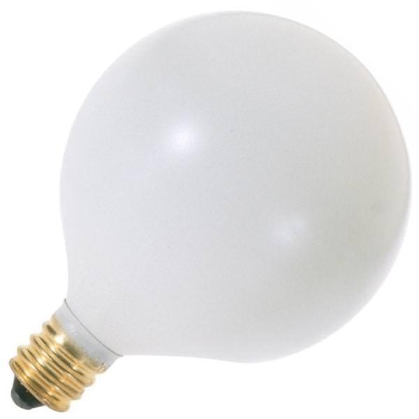 Vanity Light Bulb Size : Satco 03832 - G16.5 Decor Globe Light Bulb