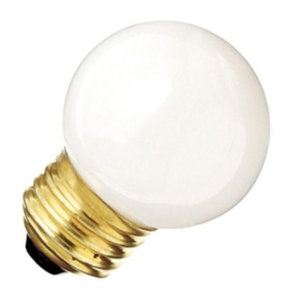 Decorative Vanity Light Bulbs : Satco 03968 - G17 Decor / Vanity Globe Style Light Bulb