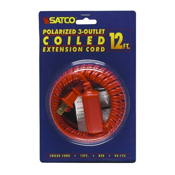 satco 93174 extension cord. Black Bedroom Furniture Sets. Home Design Ideas