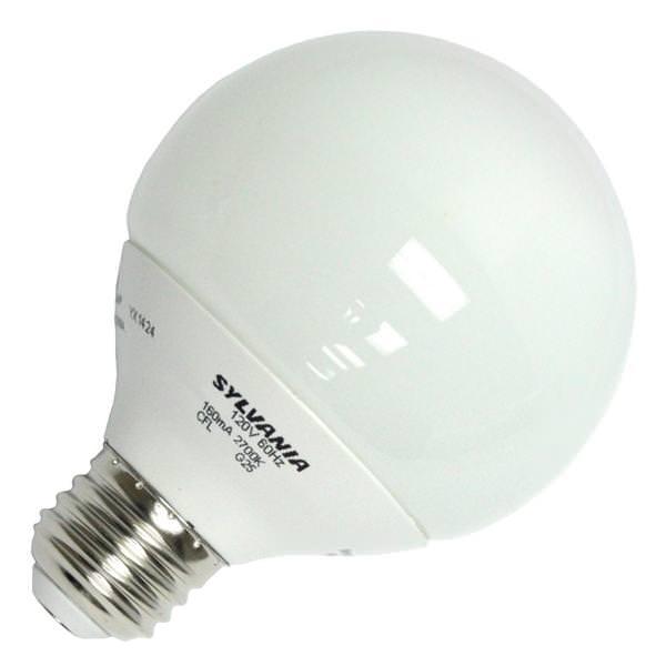 light bulbs compact fluorescent light bulbs screw in globe sylvania. Black Bedroom Furniture Sets. Home Design Ideas