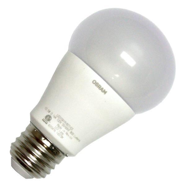 10 watt 120 volt a19 medium screw base 2700k frosted nondimmable led - Sylvania Light Bulbs