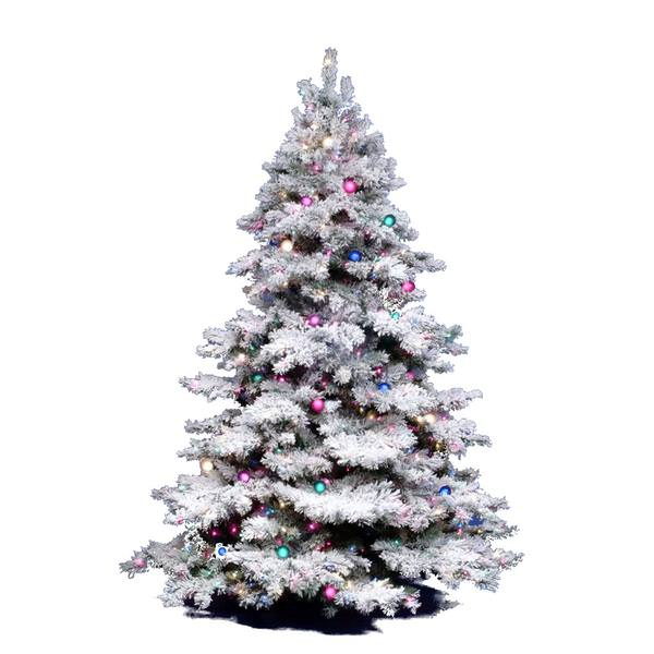 Vickerman 01416 4 5 X 44 Flocked Alaskan Pine 300 Clear Lights Christmas Tree A806346