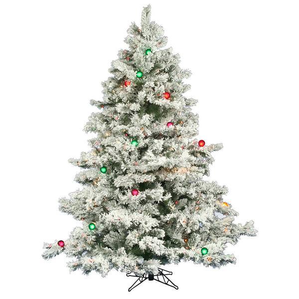 Vickerman 01521 Flocked Christmas Tree