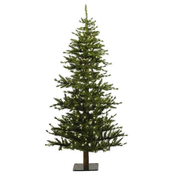 Half Christmas Tree.Vickerman 03484 7 X 41 Minnesota Pine Half 300 Clear Lights Christmas Tree A803946