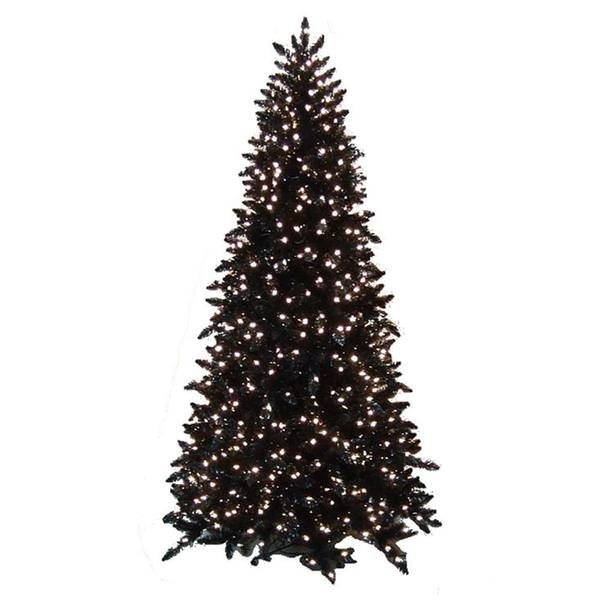 check out 79246 53b49 Vickerman 14269 - 10' x 62 Black Ashley Spruce Slim 1,150 Clear Lights  Christmas Tree (K863086)