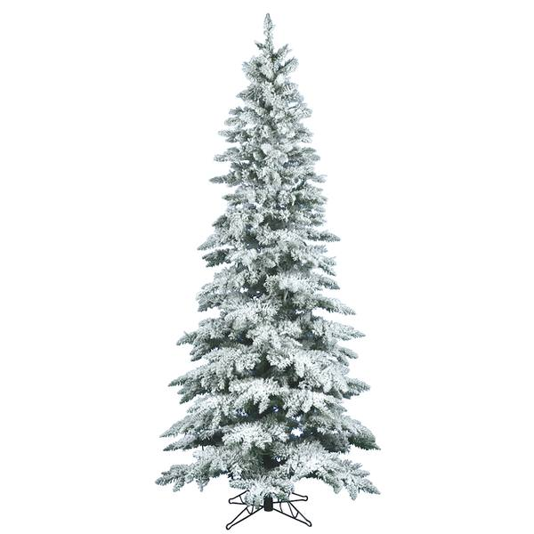 Vickerman 16110 10 X 55 Flocked Slim Utica Fir 700 Multi Color Duralit Miniature Lights Christmas Tree A895087