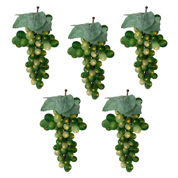 100 light green wire green grape cluster lights string