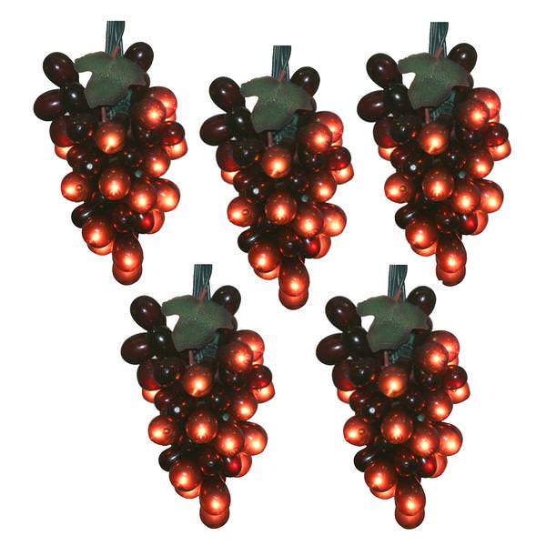 Grape String Party Lights : Vickerman 17190 - LED Grapes Christmas Light String Set