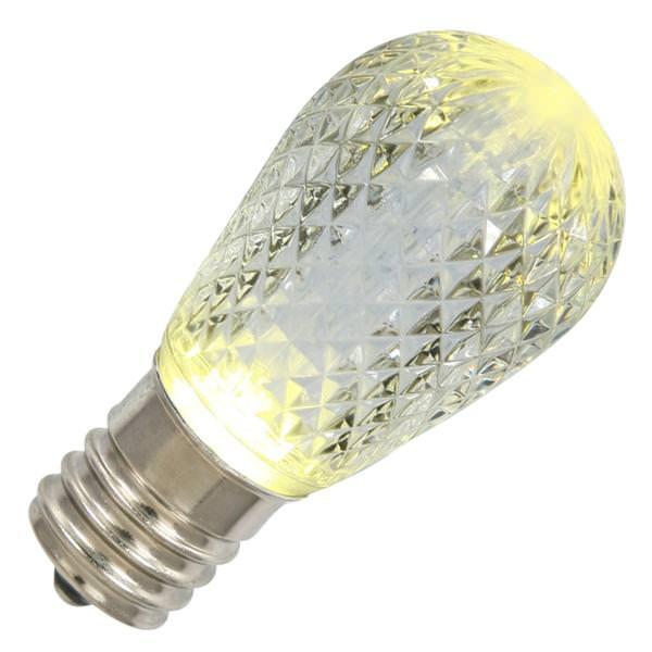 96 watt 120 volt s14 medium screw base warm white faceted led
