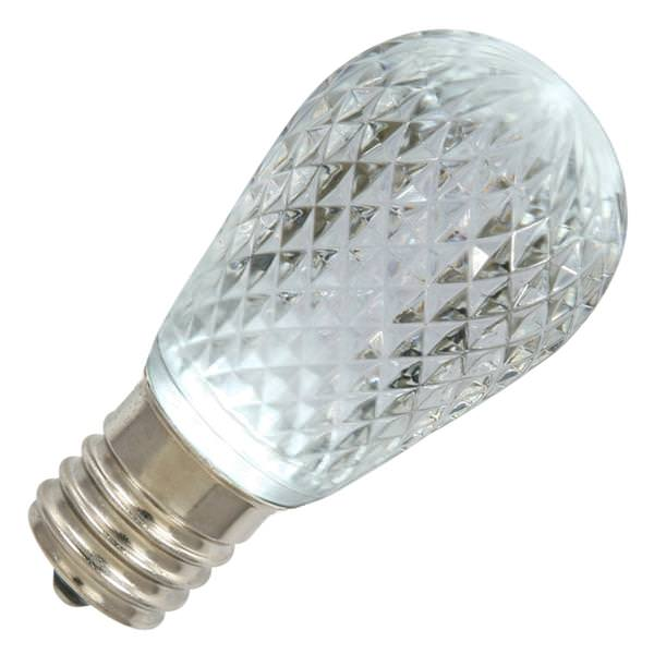 96 watt 120 volt s14 medium screw base pure white faceted led