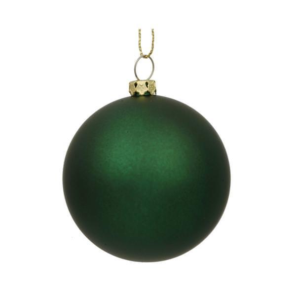 Vickerman 21266 Dark Green Colored Christmas Tree Ball