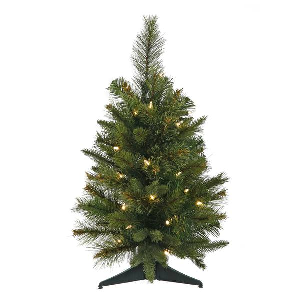 Pre Lit Outdoor Christmas Trees Battery Operated.Vickerman 22219 24 X 16 Cashmere Pine Battery Operated 30 Warm White Italian Led Lights Christmas Tree A118525led