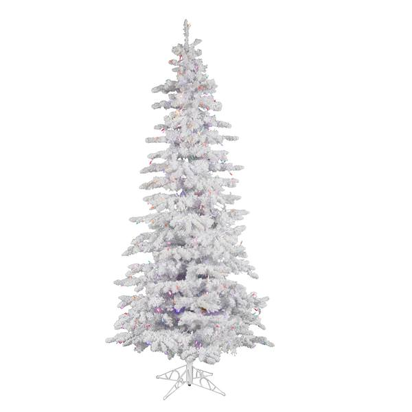 Color Switch Christmas Tree: Flocked Christmas Tree