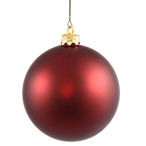 Vickerman 24808 Red Colored Christmas Tree Ball Ornament