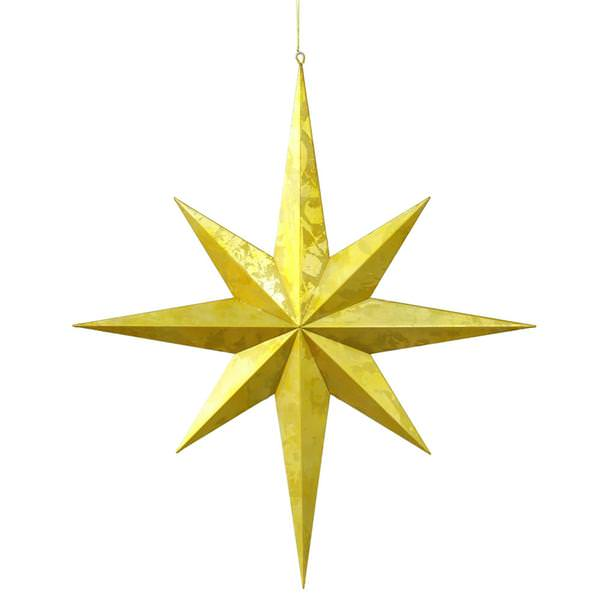 Vickerman 28647 23 5 Gold Foil Candy Finish 8 Point Star Christmas Ornament M125728