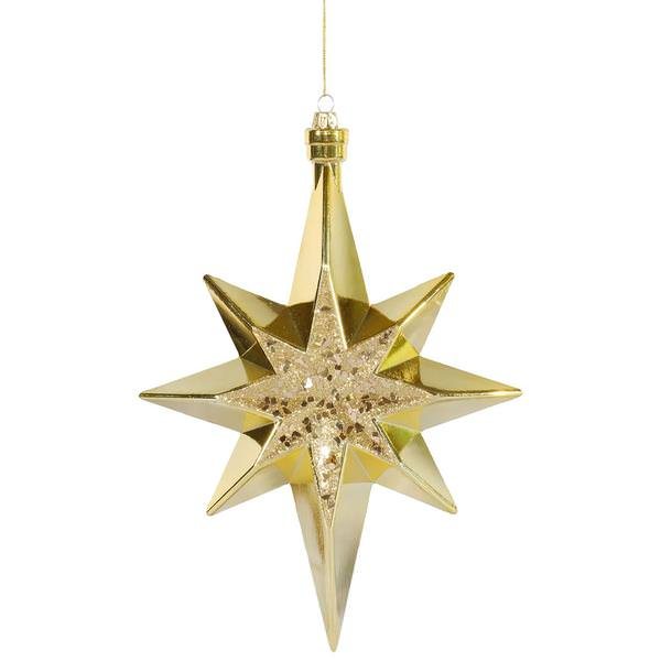 Vickerman gold colored christmas tree star ornament