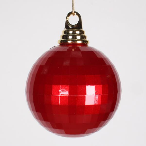 Vickerman red colored christmas tree ball ornament