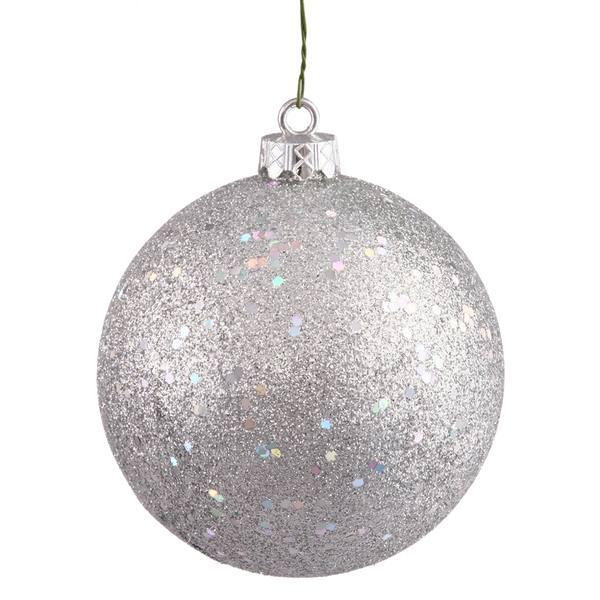 Vickerman 35395 - Silver Colored Christmas Tree Ball Ornament