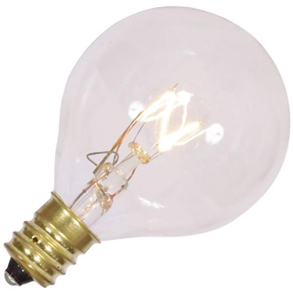 Vickerman 360316 7 Watt 120 Volt G40 Candelabra Screw Clear Twinkle Bulb 5 Pack Christmas Light Bulbs V145546