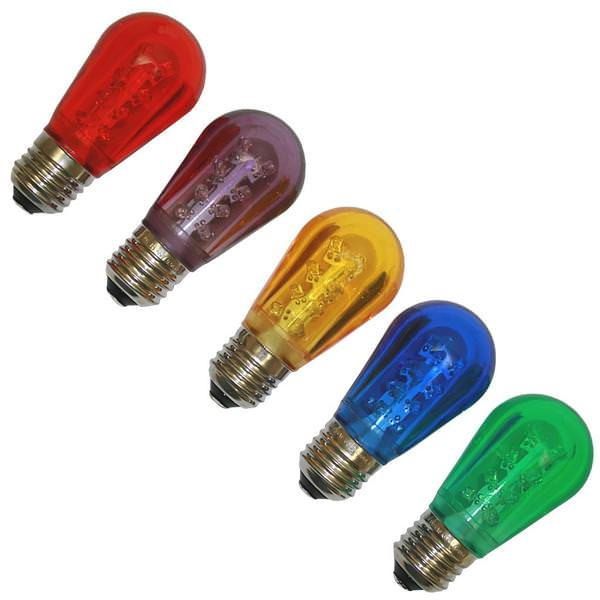 Vickerman 362136 130 Volt S14 Medium Screw Multi Colored Transparent Led Lights 5 Pack Christmas Light Bulbs Xs14p00
