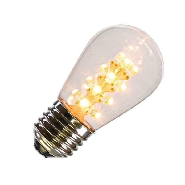 Vickerman 362143 1 Watt 130 Volt S14 Medium Screw Base Dimmable Warm White Transparent Led Christmas Light Bulb Xs14p01